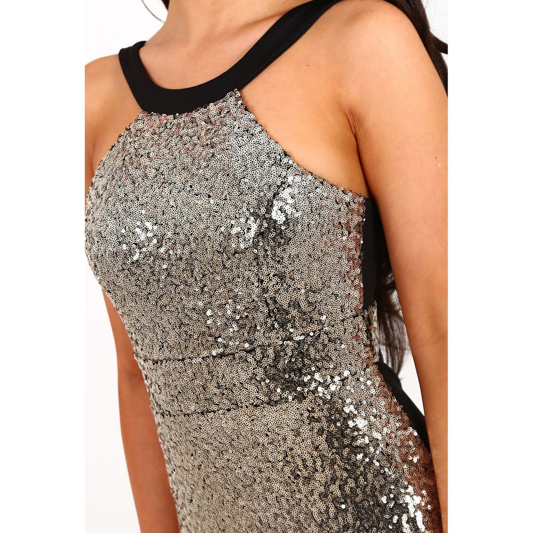 Sequin Halter Party Dress