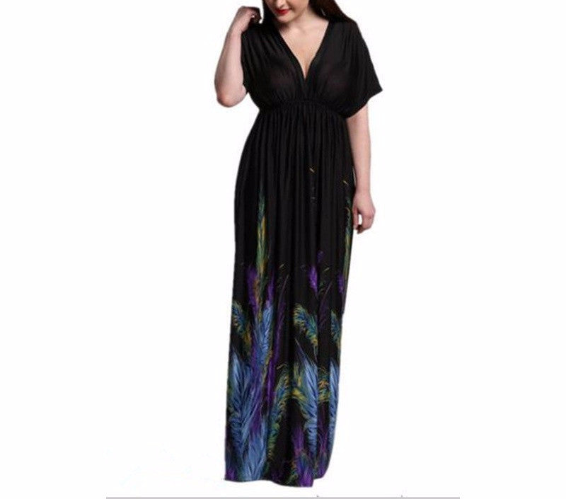 Summer Boho Print Maxi Dress (Plus Sizes also available)
