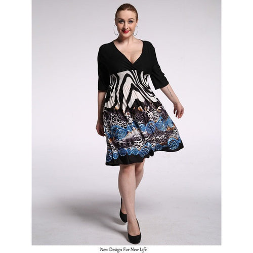 Pretty Boho  Zebra Dress (plus sizes only)