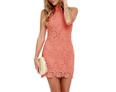 Lovely Sleeveless Lace Dress