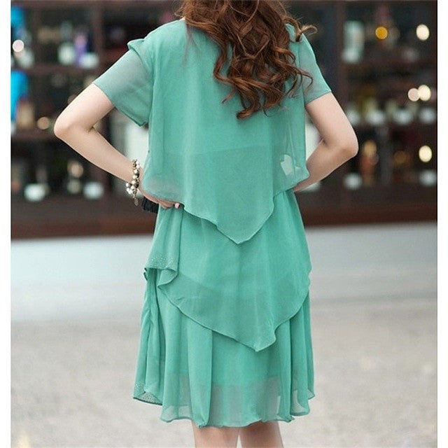 Short Sleeve Layered Dress (plus sizes also available)