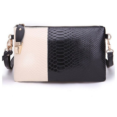 Genuine Leather, Crocodile Pattern Clutch Bag