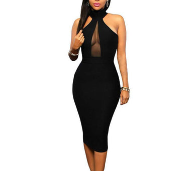 Mesh Keyhole Party Dress