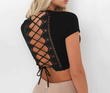 Summer Lace up Crop Top