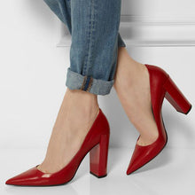 Red Pointed Toe Pumps