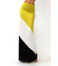 Color Block Long Skirt