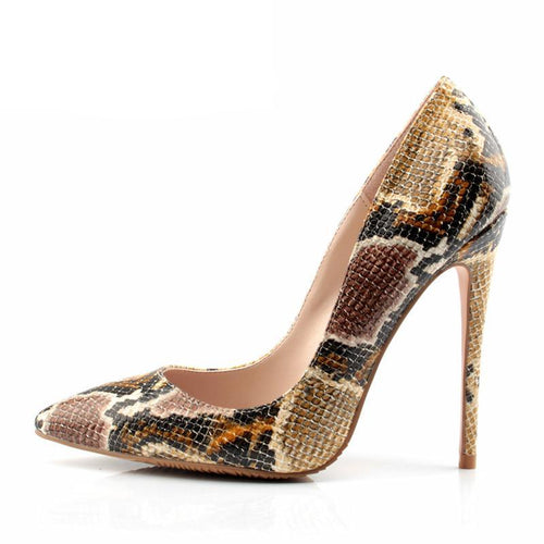 Cindi Snake Pattern Pumps
