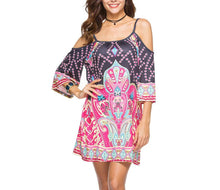 Bohemian Print Casual Dress
