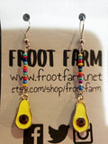 Avocado Earrings with Fiesta Beads