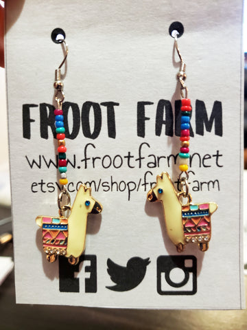 Llama Fiesta Dangle Earrings
