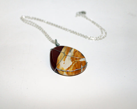 Wire-Wrapped Jasper Necklace