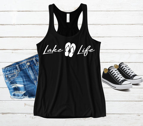 Lake Life - Flip Flops Tank Top (Black)