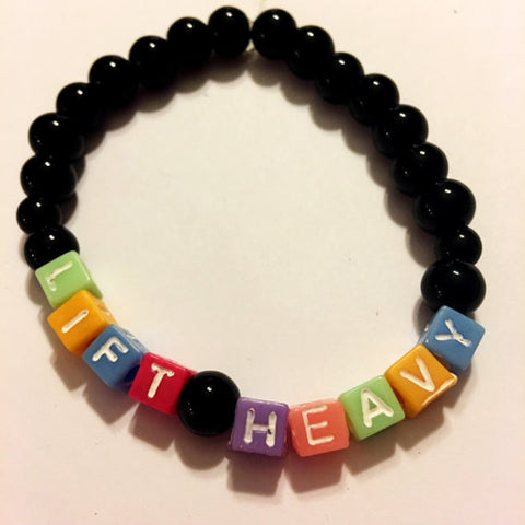 Lift Heavy Beaded Bracelet