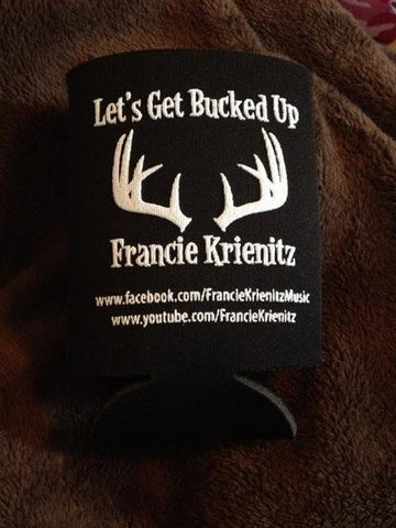"Black ""Let's Get Bucked Up"" Koozie"