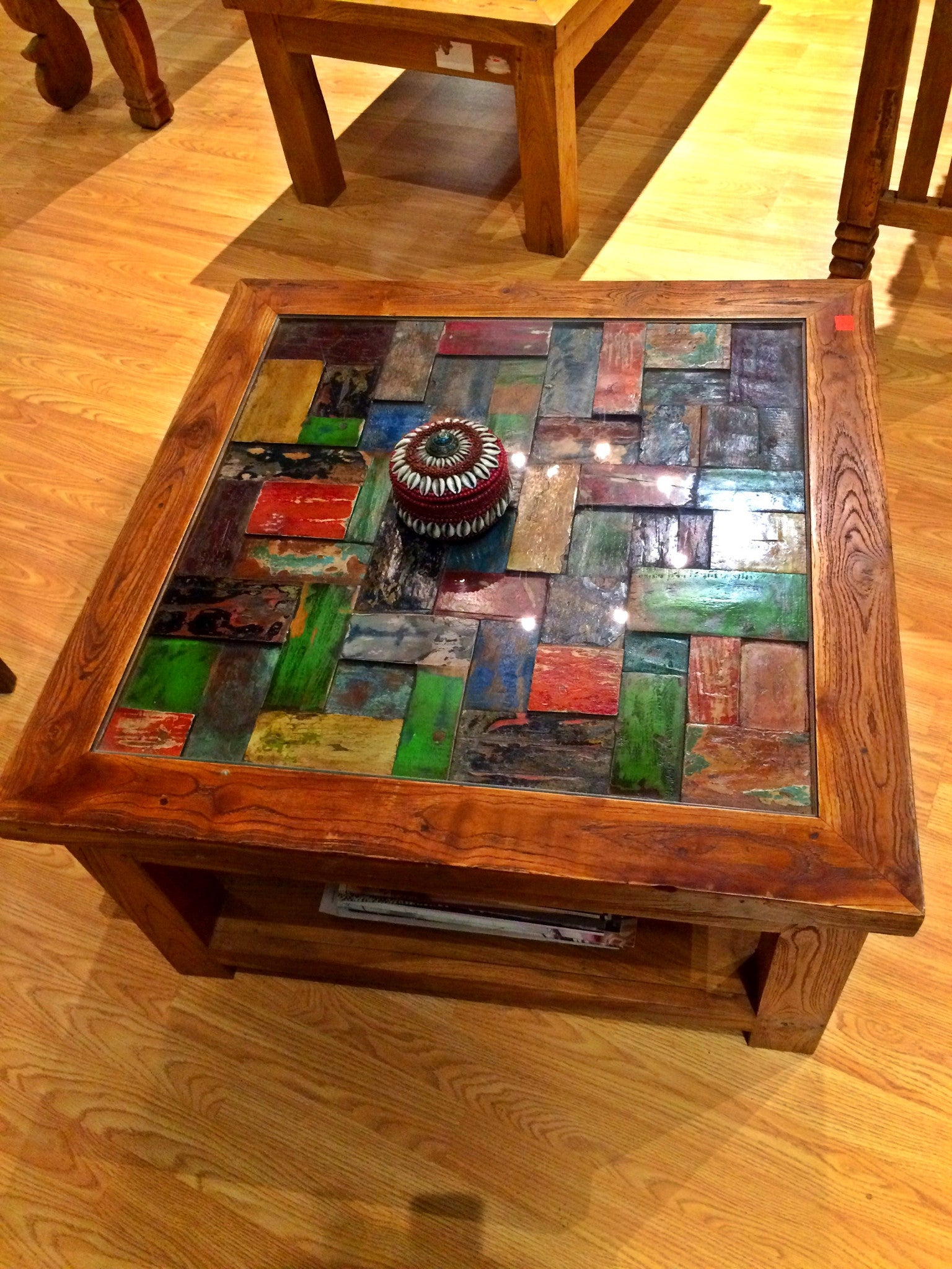 Balinese mosaik coffee table antiquebyfufu balinese mosaik coffee table geotapseo Image collections