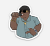 "Rapper East Sticker  (1.92"" x 2"") - Display Geek"