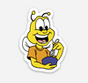 "Bee Sticker  (1.48"" x 2"") - Display Geek"