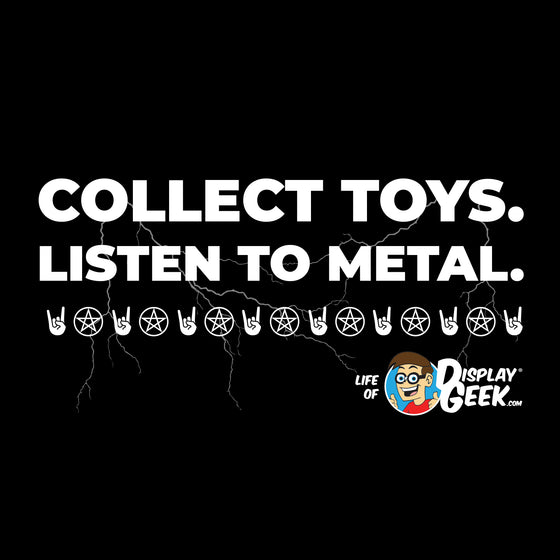 2020 Collect Toys. Listen to Metal. Display Geek - Short-Sleeve Unisex T-Shirt - Display Geek