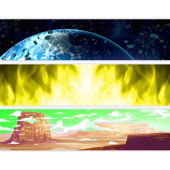 DRAGON BALL - Backdrop Inserts for CLASSIC Display Geek Shelves (Limited Edition) - Display Geek