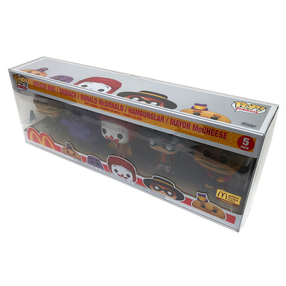 MCDONALDS 5PK Pop Protectors for 4 in. Funko Vinyl Collectible Figures, 50mm thick ***Read Details***