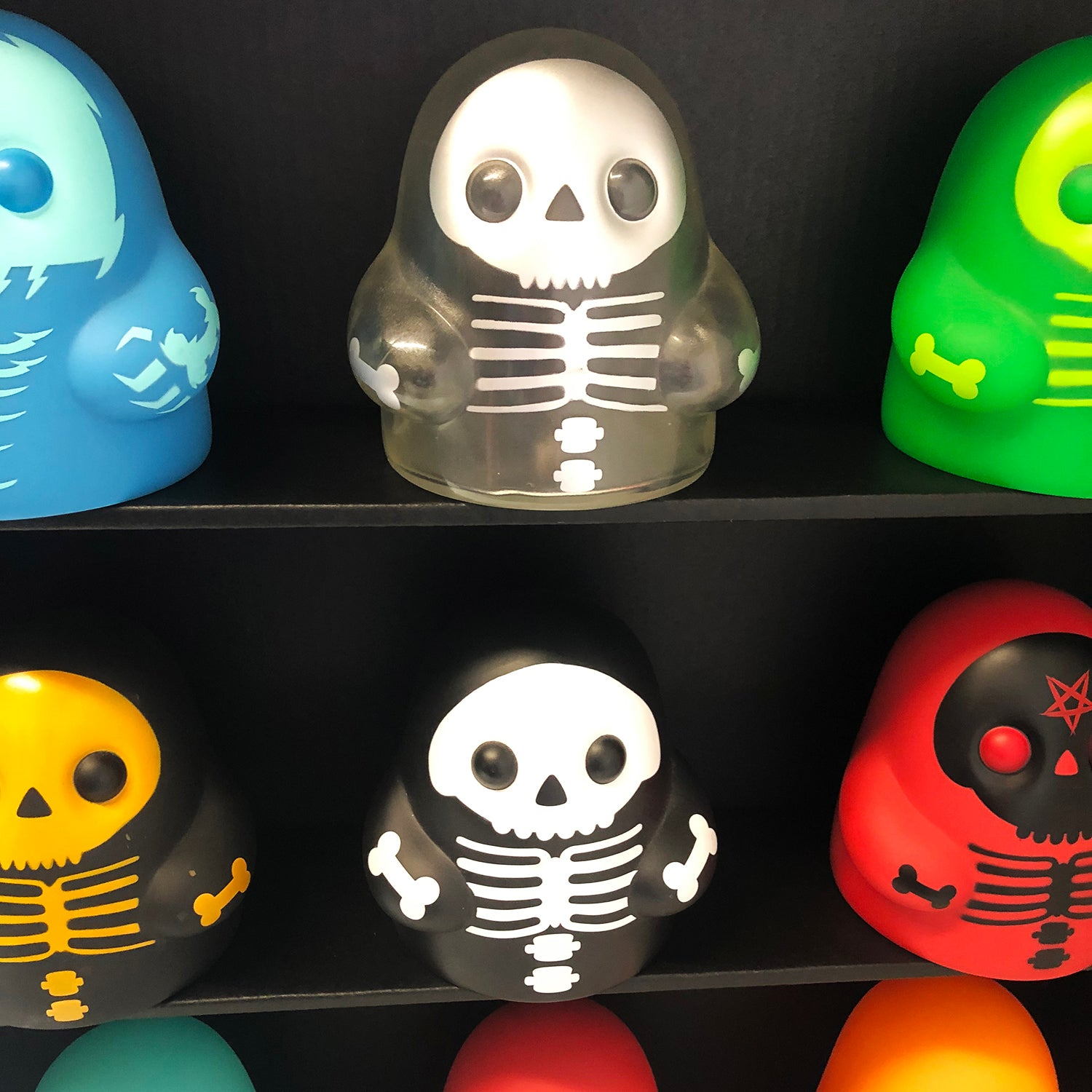 "Bimtoy Tiny Ghost 3/"" Skeleton 3-Pack NEW"