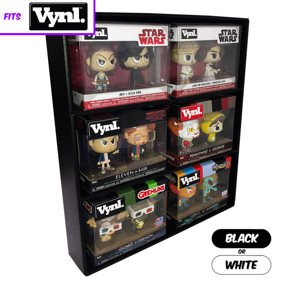 **BACK IN STOCK MAY 13TH** SPECIFIC - Display Case for Funko VYNL 2 Packs, Wall Mountable & Stackable Toy Shelf, Corrugated Cardboard - Display Geek