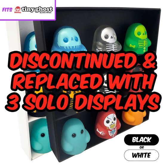 SPECIFIC - Display Case for Bimtoy Tiny Ghost, Wall Mountable & Stackable Toy Shelf, Corrugated Cardboard