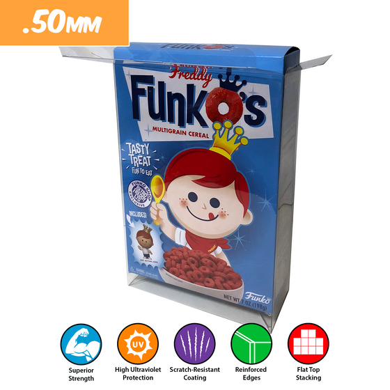 FUNKO CEREAL Pop Protectors for Funko Cereal Boxes, 50mm thick popshield vaulted vinyl