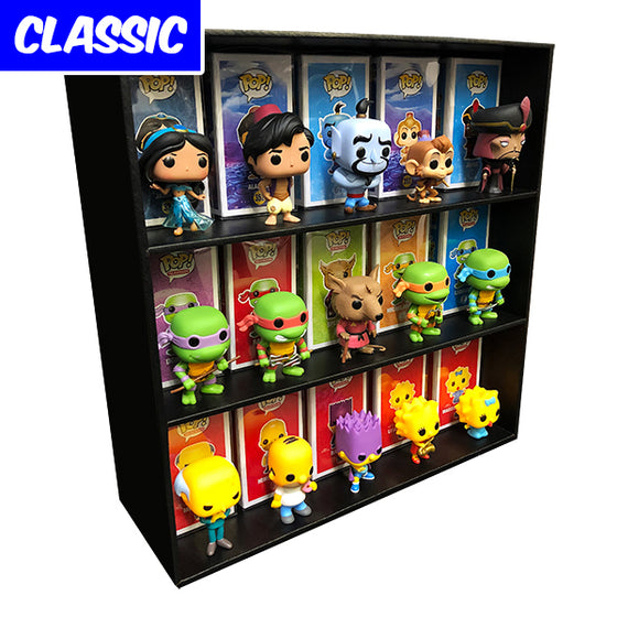 CLASSIC Display Case Storage for Funko Pops, Wall Mountable & Stackable Toy Shelf, Corrugated Cardboard - Display Geek