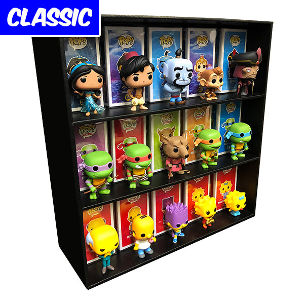 **AT SDCC, ORDERS GO OUT NEXT WEEK** CLASSIC - Display Case for Funko Pops, Wall Mountable & Stackable Toy Shelf, Corrugated Cardboard