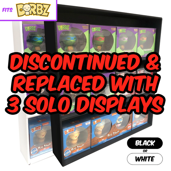 SPECIFIC - Display Case for Funko Dorbz, Wall Mountable & Stackable Toy Shelf, Corrugated Cardboard