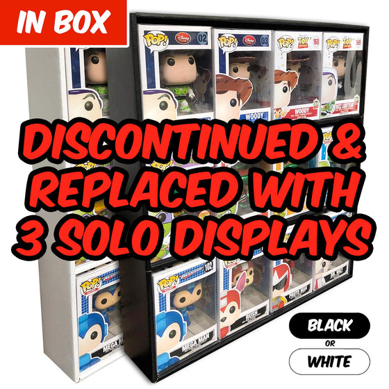 IN BOX - Display Case for Funko Pops, Wall Mountable & Stackable Toy Shelf, Corrugated Cardboard