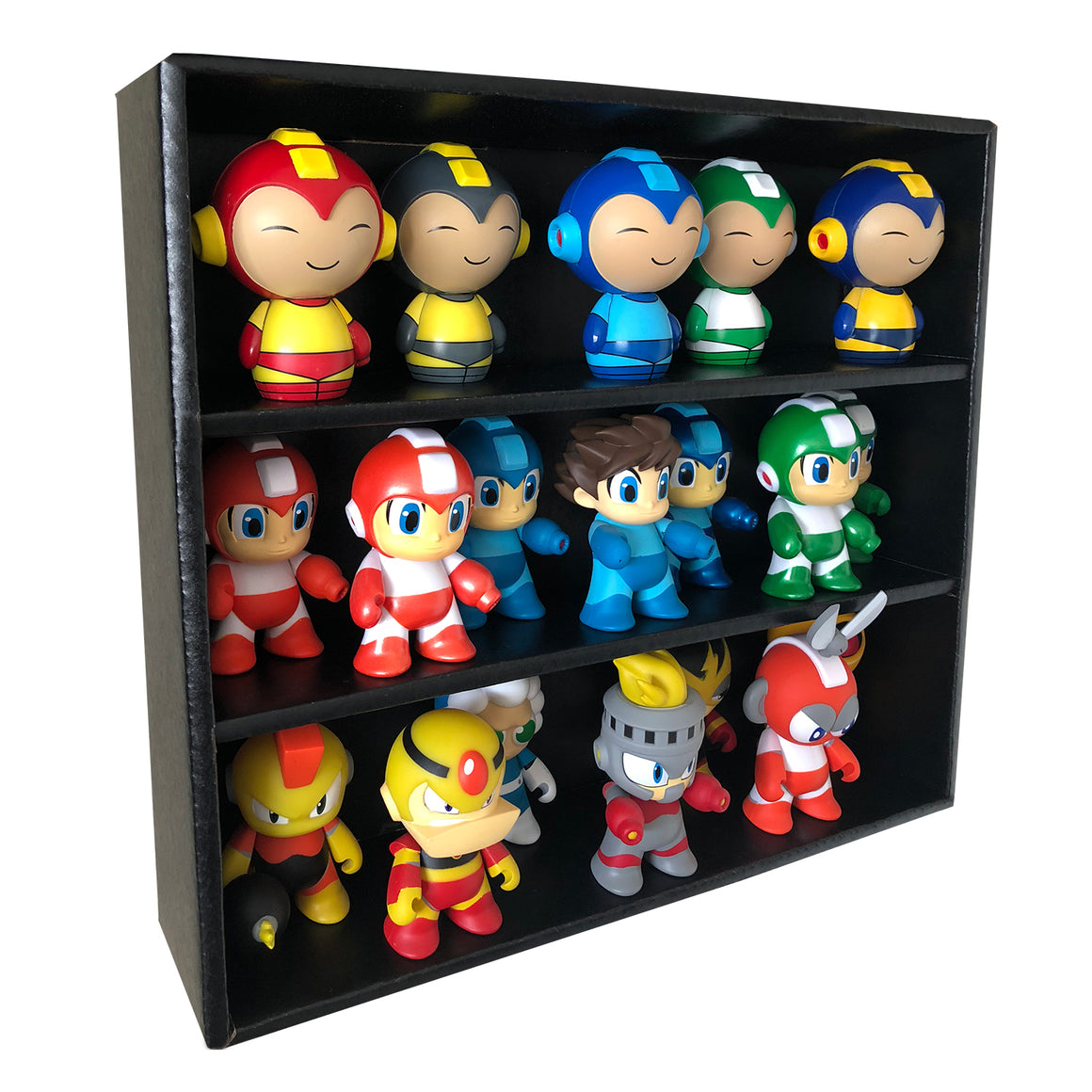 MINI - Black Stackable Funko Pop Display Toy Shelf for Vinyl Collectibles, Corrugated Cardboard