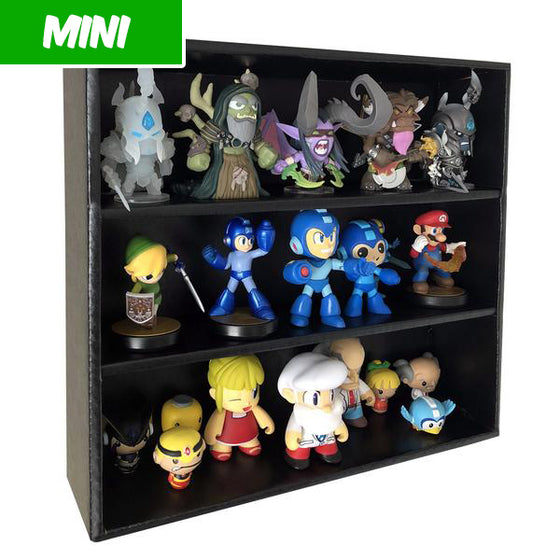 **AT SDCC, ORDERS GO OUT NEXT WEEK** MINI - Black Display Case for Funko Mystery Minis, Wall Mountable & Stackable, Corrugated Cardboard