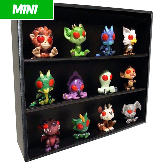 MINI - Display Case for Cryptkins, Wall Mountable & Stackable, Corrugated Cardboard
