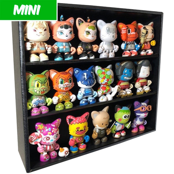 MINI - Display Case for Superplastic Janky, Wall Mountable & Stackable, Corrugated Cardboard