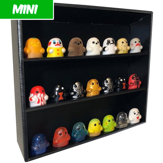 MINI - Display Case for Bimtoy Tiny Ghost Minis, Wall Mountable & Stackable, Corrugated Cardboard