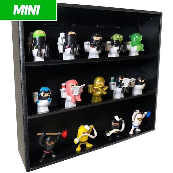 MINI - Display Case for Paka Paka Toilet Ninjas, Wall Mountable & Stackable, Corrugated Cardboard