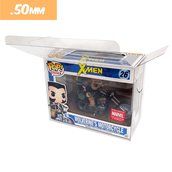 POP RIDES (MOTORCYCLE) Protectors for Funko Vinyl Collectible Figures, 50mm thick ***Read Details***