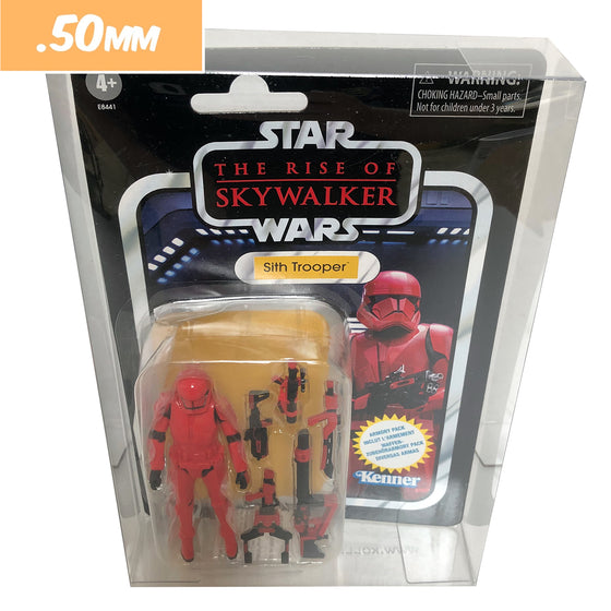 KENNER STAR WARS CARD BACK Protectors for Action Figures, .50mm thick display geek popshield vaulted vinyl kollector protector