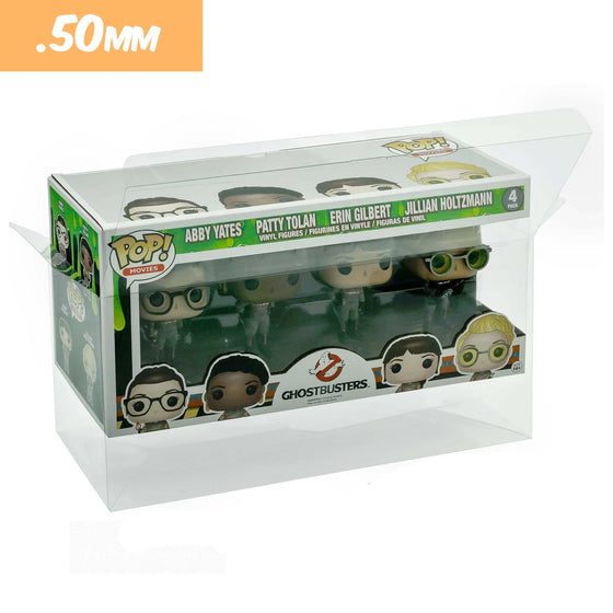 4PACK Pop Protectors for 4 in. Funko Vinyl Collectible Figures, 50mm thick ***Read Details***