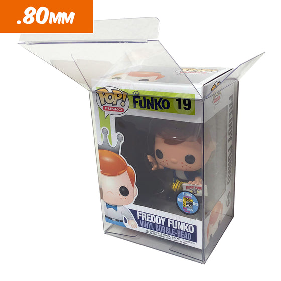 ULTRA HEAVY DUTY Flex Stack Pop Protectors for 4 in. Funko Vinyl Collectible Figures, 80mm thick - Display Geek