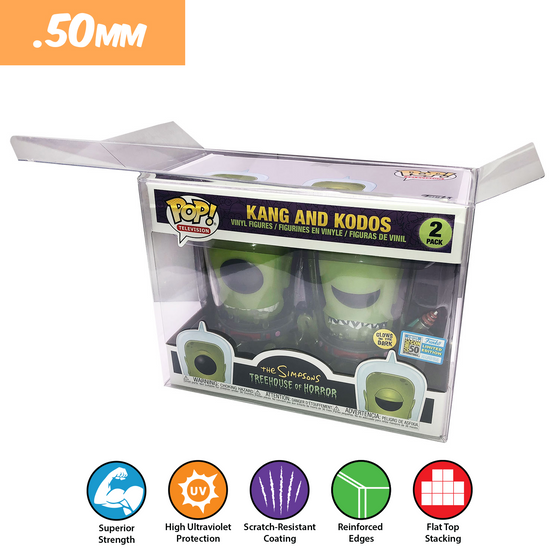 KANG & KODOS Pop Protectors for Funko Vinyl Collectible Figures, 50mm thick popshield vaulted vinyl