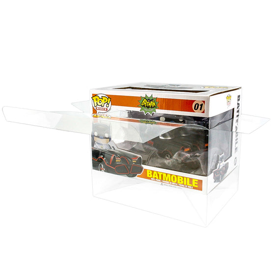 POP RIDES Small Car Batmobile Protectors for Funko Vinyl Collectible Figures, 50mm thick  popshield vaulted vinyl