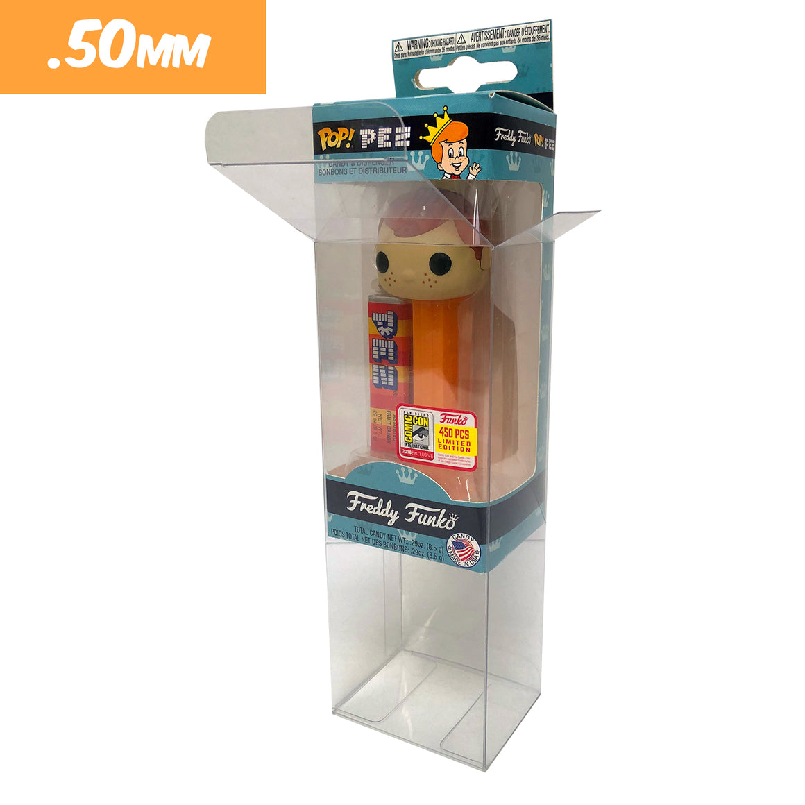 **AT SDCC, ORDERS GO OUT NEXT WEEK** Pez Protectors for Funko Pop Pez, 50mm thick