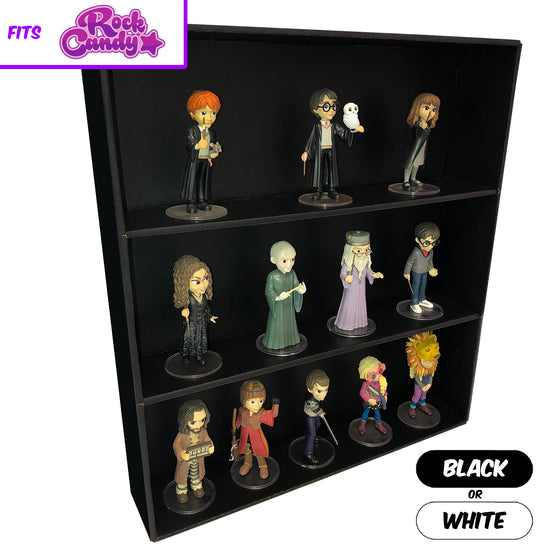 **BACK IN STOCK MAY 13TH** SPECIFIC - Display Case for Funko Rock Candy, Wall Mountable & Stackable Toy Shelf, Corrugated Cardboard - Display Geek