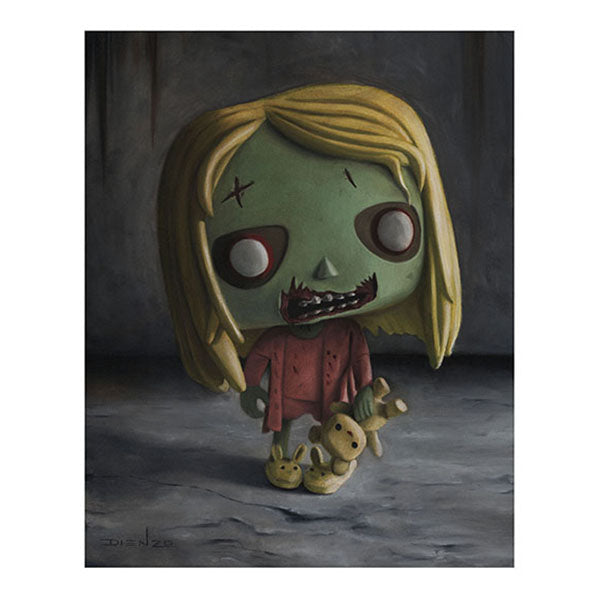 "DIENZO ART Digital Print 11"" x 14"" - The Walking Dead Teddy Bear Girl (Display Geek Exclusive)"