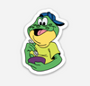 "Frog Sticker  (1.41"" x 2"") - Display Geek"