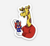 "Giraffe with Robot Sticker  (1.44"" x 2"") - Display Geek"