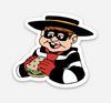 "Criminal with Food Sticker  (2"" x 1.8"") - Display Geek"